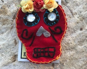 Day of the Dead Felt Pin