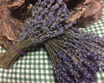 """10 6"""" Lavender Bunches - 10 Bunches - 6"""" Long - 100-150 stems/bunch dried lavender, lavender, wedding lavender, bulk lavender, wholesale"""