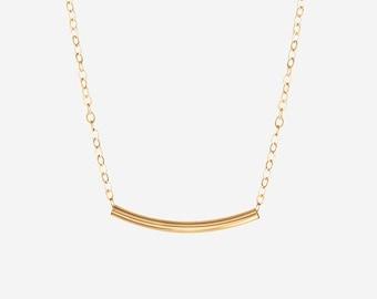 bar necklace delicate bar pendants 1995-BRG  bright rose gold 4 shiny rose gold long and skinny 47mm tube bar pendants bar charms