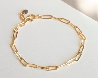 2ad39b0c197 Gold chain bracelet | Etsy