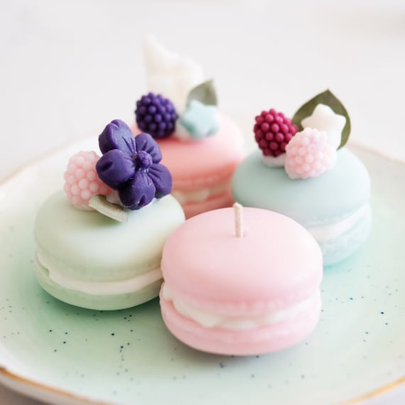 Macaron Dessert Candle Trio Party Decor Wedding Favors Etsy