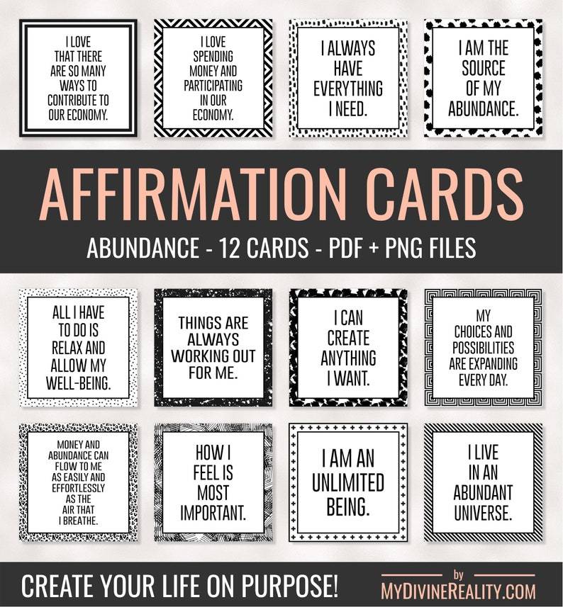 graphic regarding Printable Affirmations titled Printable Confirmation Playing cards Abraham Hicks Legislation of Enchantment  Meditation Eyesight Board Alignment Applications Printable Estimate Playing cards