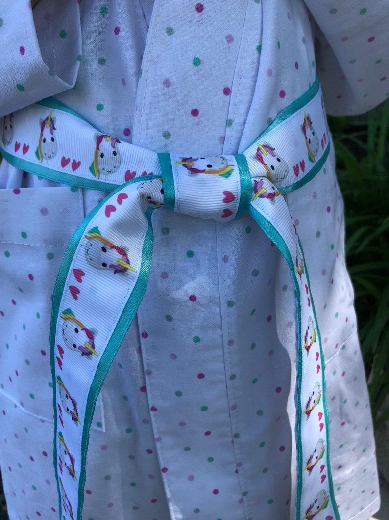 Flower girl robe,Unicorn Flower girl Robe,Girls Robe,Toddler Robe Girls Unicorn Cotton Robe