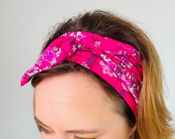 Tie Headbands for Women, Self Tie Headband, Scarf Tie Headband, Retro Head Wrap,  Bow Head Scarf,  Vintage Style Head Scarf, 60s Mod Style