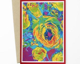 Greeting Card/Roses Photo Art Greeting Card