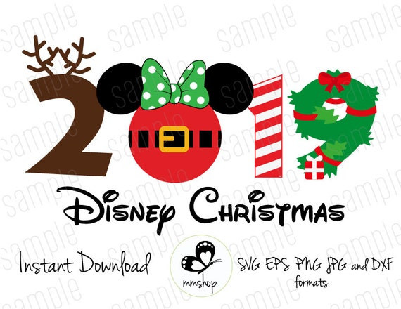 Christmas Minnie Ears 2019.2019 Disney Christmas Minnie Ears Instant Download Svg Files