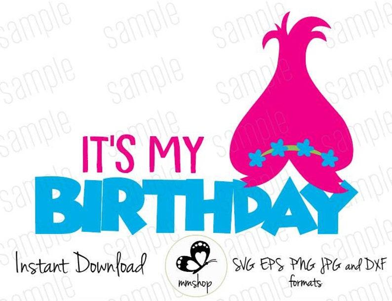 E Il Mio Compleanno Papavero Troll Download Immediato Etsy