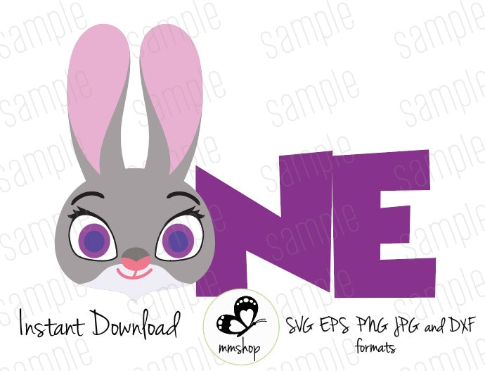 One Judy Hopps Zootopia Instant Download Svg Files Etsy