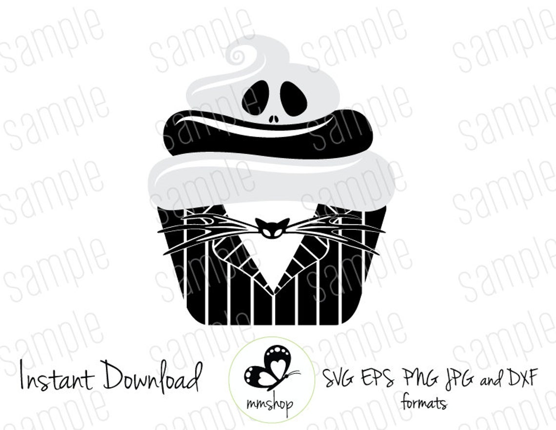 Haunted mansion cupcake instant download svg files   etsy.