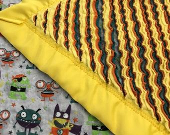 Monster Mash Chenille Baby Blanket