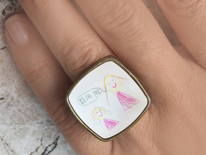 custom ring,personalized ring,photo ring,personalized photo gifts,custom photo gifts,rings for women,rings for mom,photo gifts,Mother/'s ring