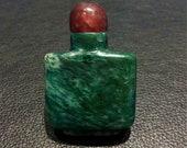 Asian agate bottle, vintage snuff bottle