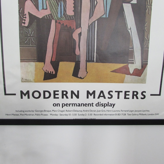 """ORIGINAL TATE GALLERY MODERN MASTERS PICASSO 1985 POSTER VINTAGE /& RARE 30/""""X20/"""""""
