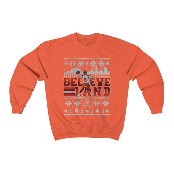 Baker Mayfield Christmas Ugly Sweater Believe Land Unisex Etsy