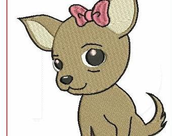 Chihuahua Embroidery desgin