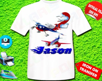 Planes Iron On Transfer, Planes Birthday Shirt Iron On Tranfer, Planes Personalize Digital File Only