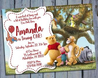 Christopher Robin Invitation, Winnie The Pooh Birthday Invitations, Bear Movie Party, Tigger Invites, Piglet Printables, Eeyore Printable