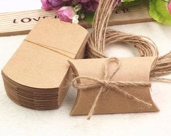 13375eb9a 100 PCS pillow boxes kraft paper, bulk jewelry box, wholesale jewelry packaging  box, jewelry packing box, gift boxes, boxes for earrings