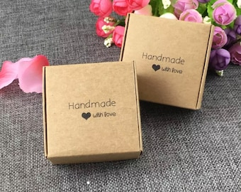 100dd8274 50 PCS bulk jewelry box, wholesale jewelry packaging box, jewelry packing  box, handmade with love box, gift boxes, boxes for earrings