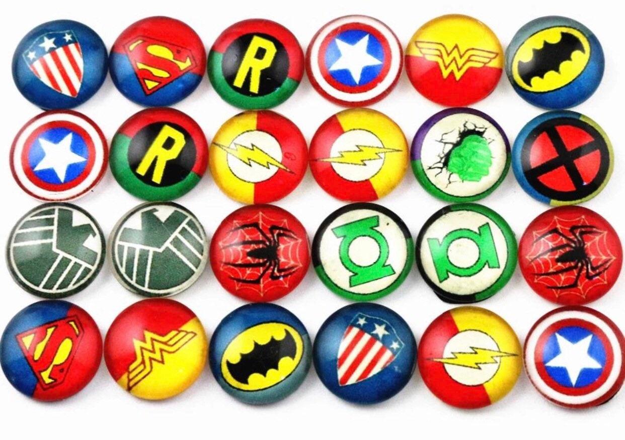 40pcs  Avenger Batman Spiderman Charm Pendants DIY Jewelry Making Accessor