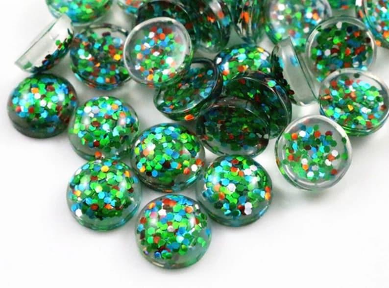 green stone glitter stone supplies,jewelry pendant 40pcs green glitter cabochon 12mm cabochon supplies for 12mm green ear stud setting