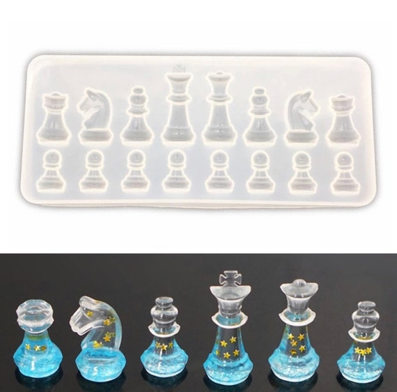Chess Mold Diy Chess Set Silicone Resin Mold Craft Jewelry Mold Chess Pieces Art Moulds Diy Crafts Gift Craft Production Supplies