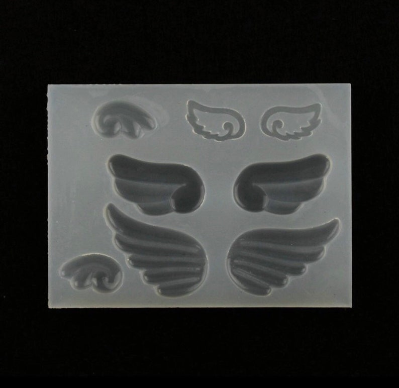 kawaii mold, kawaii mold supply, angel wings mold, resin deacoden mold,  phone case deco charms mould, uv resin mold,wholesale mould supplies