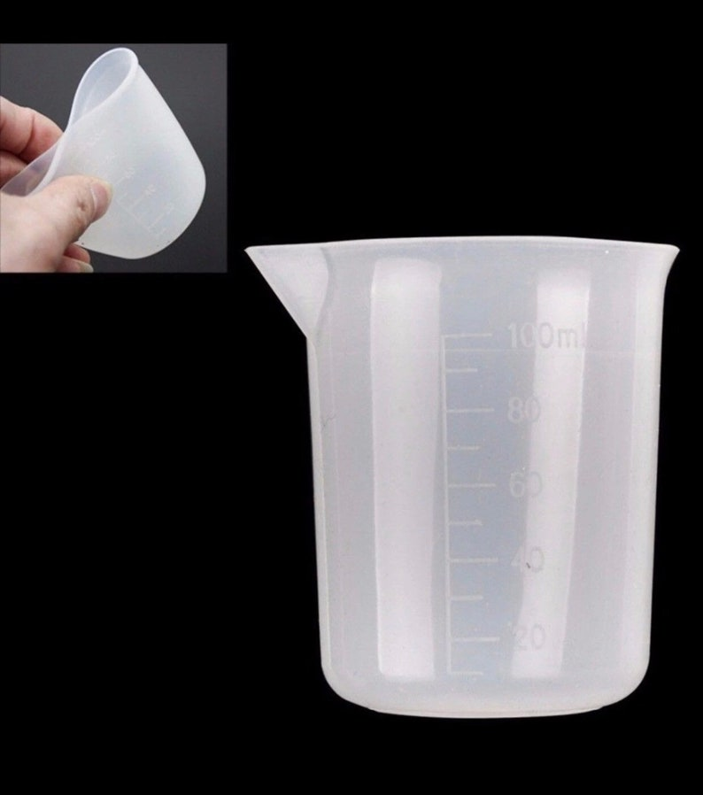 flexible measuring cup, epoxy resin cup, uv resin measuring cups, bulk  silicone reusable cups, medicine mixing cup, 100ml clear cup, glue
