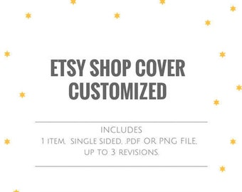ETSY SHOP COVER Etsy Marketing Etsy Cover Design Etsy Shop Cover personalised indiviudal Cover