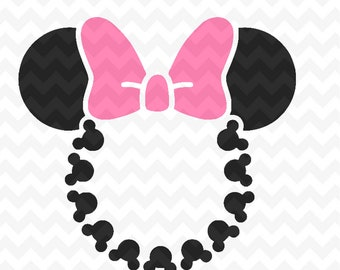 Minnie mouse head etsy minnie mouse head monogram svg instant download minnie mouse head vector minnie mouse cut file minnie mouse for silhouette and cricut maxwellsz