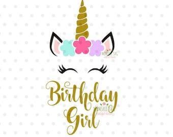 unicorn birthday svg etsy