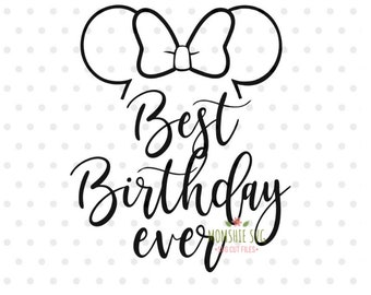 Birthday Squad Svg Best Birthday Ever Svg Disney Svg And Png Etsy