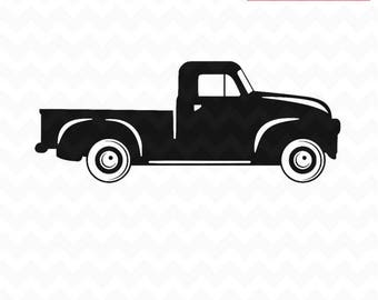 Truck SVG Pickup Svg Vintage Pick Up And PNG Instant Download Cricut Silhouette