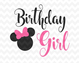 Minnie Mouse Birthday SVG Head Vector Cut File For Silhouette And Cricut