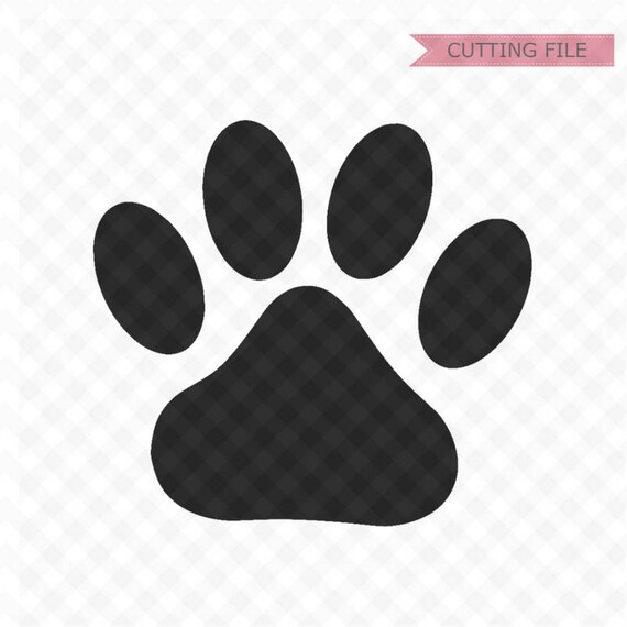 Paw Print Svg Cut Files Svg File And Png Image Pawprints Etsy