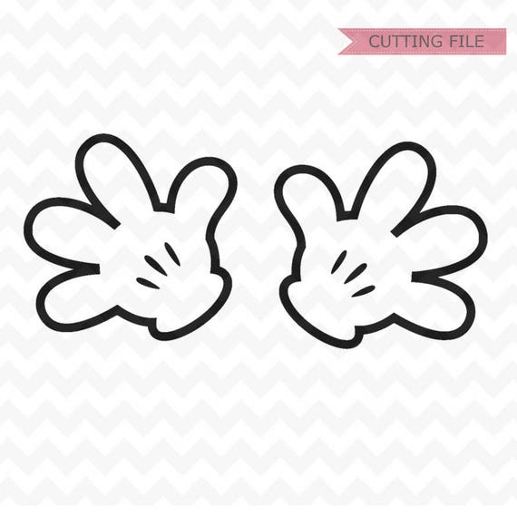Mickey Mouse Hands SVG Minnie Mouse Hands SVG and PNG instant | Etsy