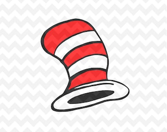 The Cat in the Hat SVG, Dr Seuss the cat in the hat LAYERED Cut File Cricut Design Silhouette Cameo, Dr. Seuss the cat in the hat
