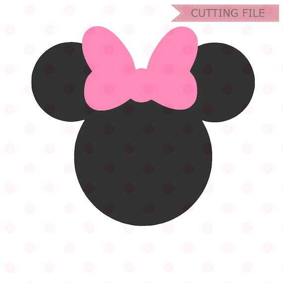 Minnie Mouse SVG Instant Download Head Vector