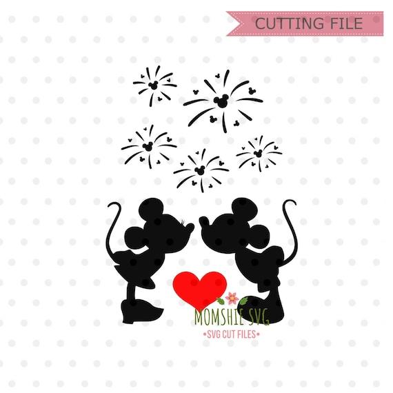 Mickey And Minnie Kissing Svg Disney Mickey Mouse Svg Disney Etsy