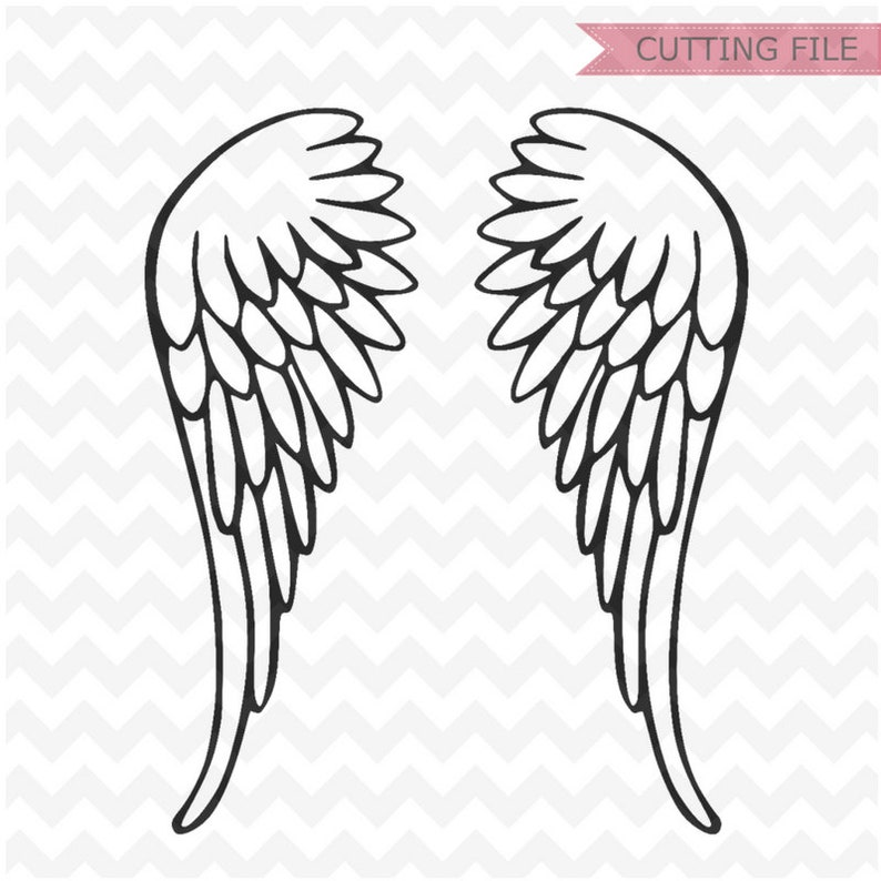 Wings SVG, angel wings Svg and PNG instant download, beautiful wings SVG  for Silhouette and cricut