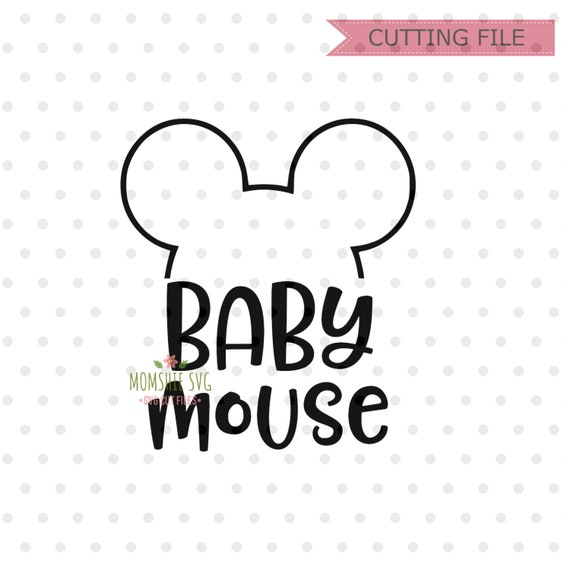 Baby Mouse Minnie Mouse Svg Instant Download Minnie Mouse Etsy