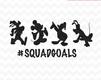 Squad Goals SVG, Mickey mouse and friends Squadgoals SVG and png, Squad Goals, svg Vector for Silhouette Cricut and silhouette
