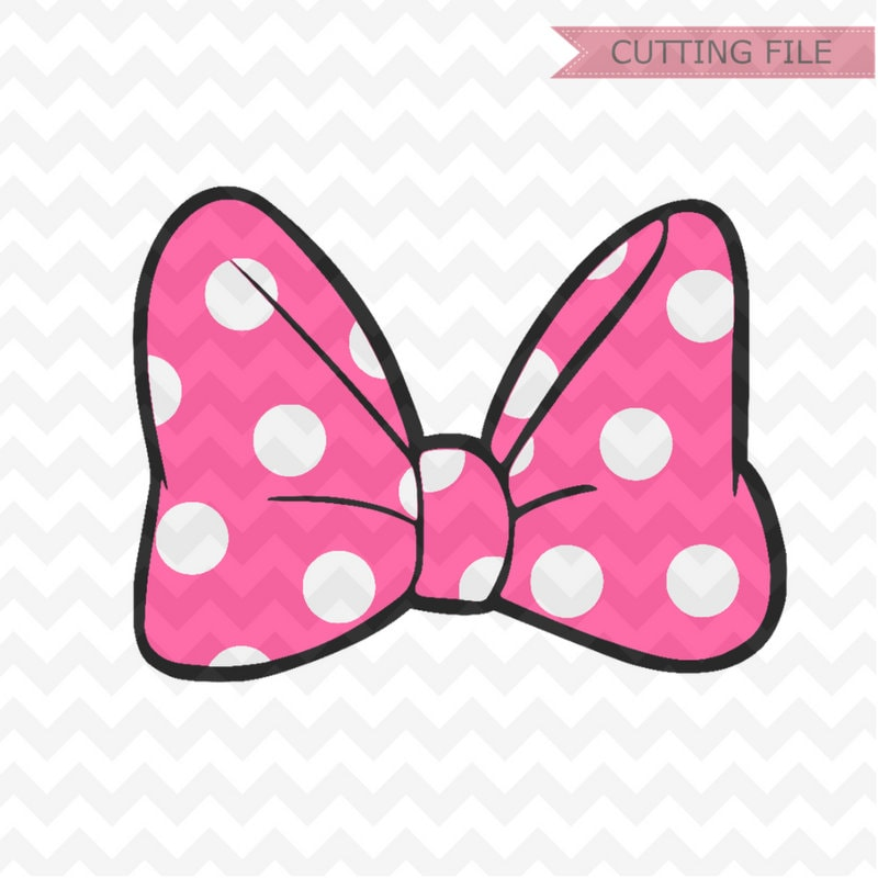 Minnie Mouse Bow Svg Layered Minnie Mouse Cute Bow Polkadots Etsy