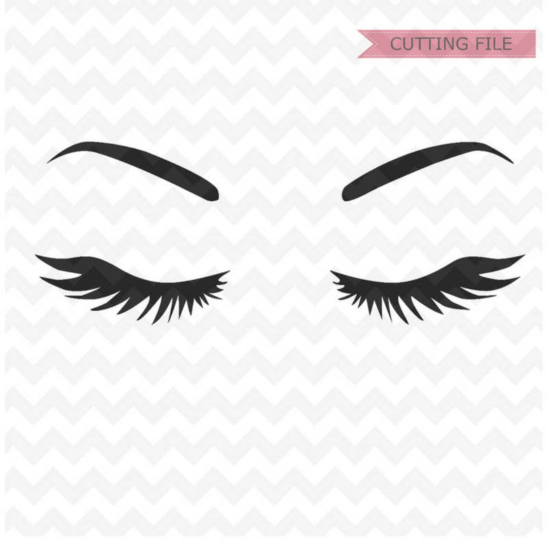 Eyelashes Svg file Eyebrows SVG Instant Download Woman | Etsy