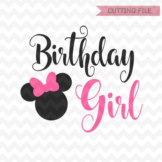 Minnie Mouse Birthday SVG Minnie Mouse Head Vector Minnie | Etsy