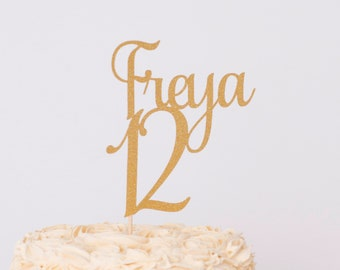 Personalised Birthday Cake Topper Name And Age Number 21st 30th 40th 50th