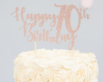 Happy Birthday Cake Topper Age First Personalised 80th 60th 30th 40th