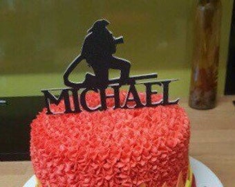 Fireman Cake Topper Personalised Firefighter Birthday