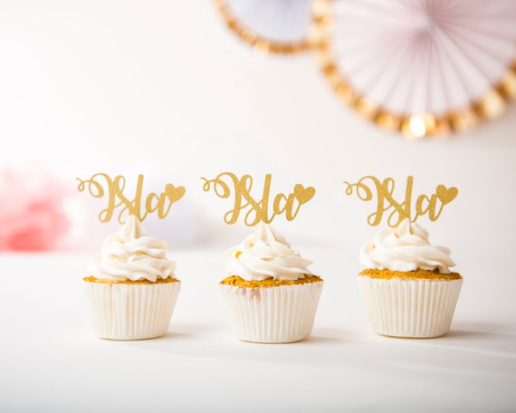 Personalised name cupcake topper Customised birthday decor.
