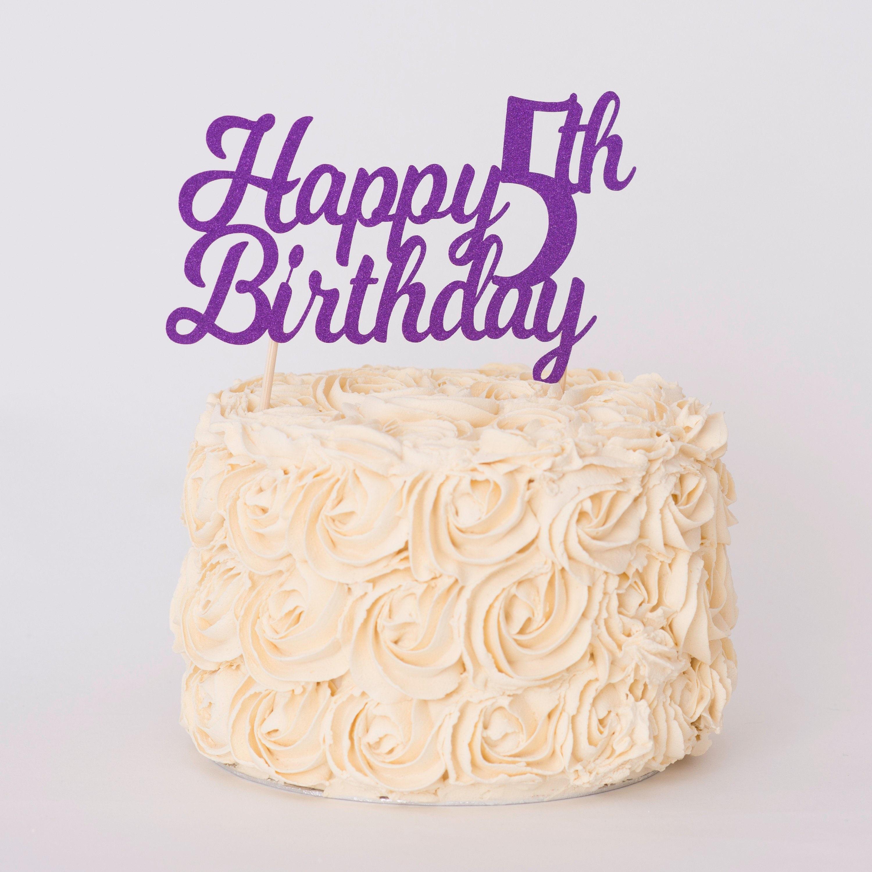 Amazing Happy Birthday Cake Topper Birthday Cake Decoration Any Age Etsy Birthday Cards Printable Riciscafe Filternl